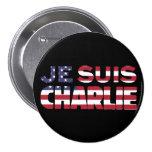 Je Suis Charlie - soy Charlie-Estrellas y rayo los Pin