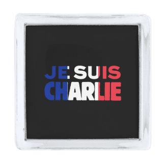 Je Suis Charlie - soy Charlie tricolor de Francia Pins Plateados