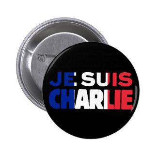 Je Suis Charlie - soy Charlie tricolor de Francia Pin Redondo De 2 Pulgadas