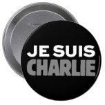 Je Suis Charlie - soy negro de Charlie Chapa Redonda 10 Cm