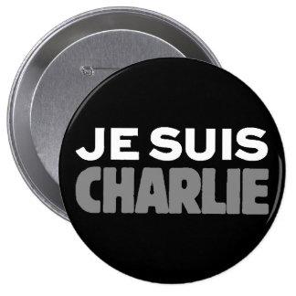 Je Suis Charlie - soy negro de Charlie Pin Redondo De 4 Pulgadas