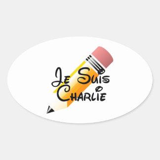 Je Suis Charlie Support Oval Sticker