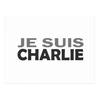 Je Suis Charlie Tarjeta Postal