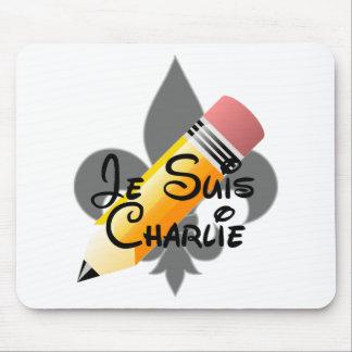 Je Suis Charlie y cojín de ratón de la flor de lis Tapete De Ratones