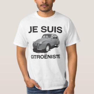 Je suis citroëniste - original gray Citroën 2CV T-Shirt