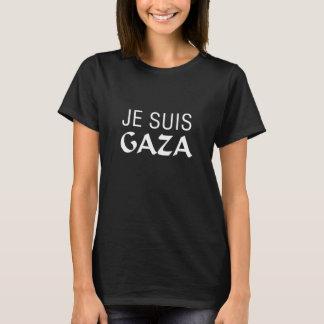 Je Suis Gaza en negro Playera