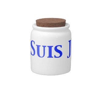 Je Suis Juif Jewish Solidarity Shirts and Gifts Candy Dish