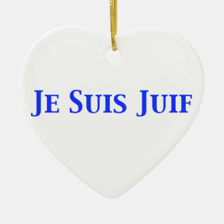 Je Suis Juif Jewish Solidarity Shirts and Gifts Ceramic Ornament