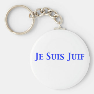 Je Suis Juif Jewish Solidarity Shirts and Gifts Keychain