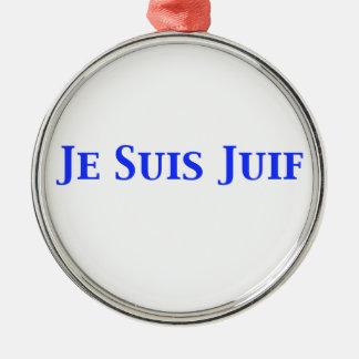 Je Suis Juif Jewish Solidarity Shirts and Gifts Metal Ornament