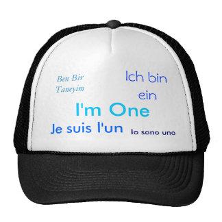 Je suis l un I m One Ben Bir Taneyim Ich bin Hats