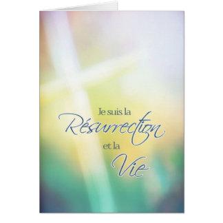 Je suis la résurrection, French religious Easter Greeting Card