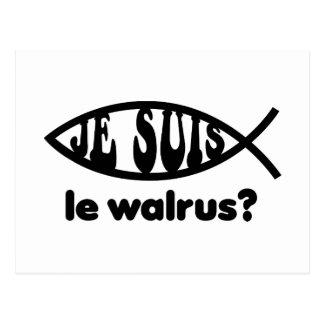 Je Suis Le Walrus Postales