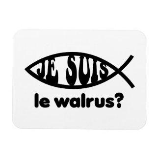 Je Suis Le Walrus Rectangular Photo Magnet