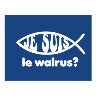 Je Suis Le Walrus Tarjeta Postal