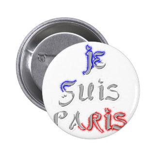 Je Suis Paris I love Paris Button