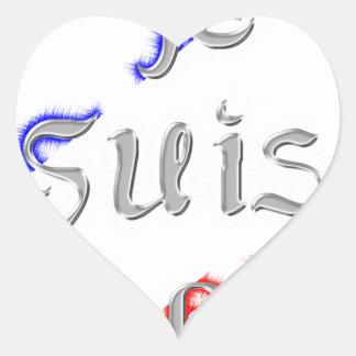 Je Suis Paris I love Paris Heart Sticker