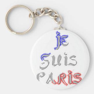 Je Suis Paris I love Paris Keychain