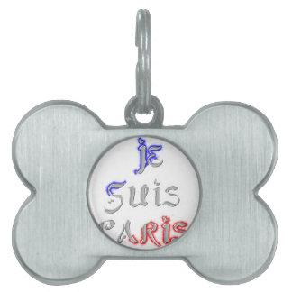Je Suis Paris I love Paris Pet Tag