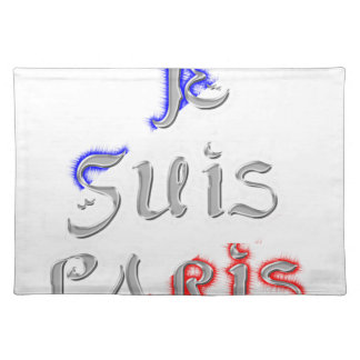 Je Suis Paris I love Paris Placemat