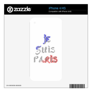 Je Suis Paris I love Paris Skins For iPhone 4S