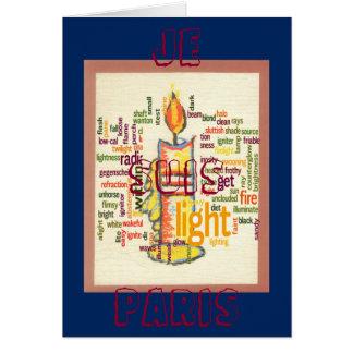 Je Suis Paris Light Lovely greeting card