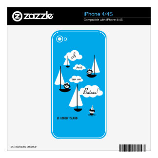 Je suis sur un Bateau! Decal For The iPhone 4S