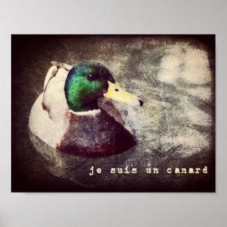 Je Suis un Canard Poster