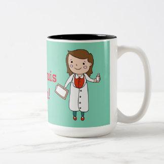 Je Suis un Médecin Two-Tone Coffee Mug