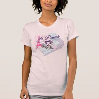 Je T'aime Cute Cat T-shirt by Cheeky Chats