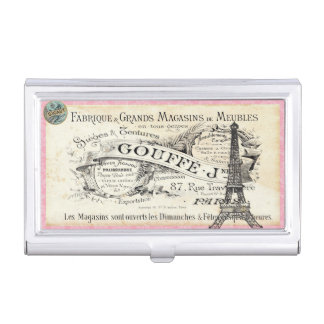 je t aime Vintage Paris Business Card Holder