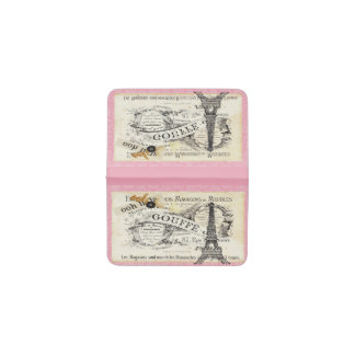 je t aime Vintage Paris Business Card Wallet Business Card Holder