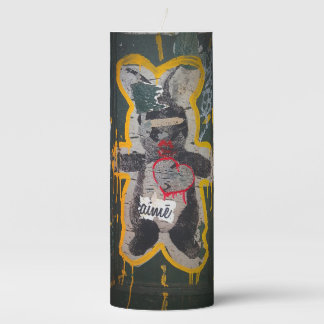 Je T'aime Bunny Streetart Candle