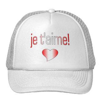 Je t'aime! Canada Flag Colors Hats