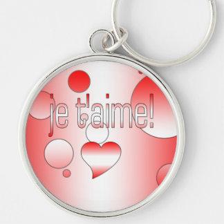 Je t'aime! Canada Flag Colors Pop Art Key Chains