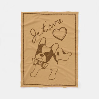 Je t'aime fleece blanket
