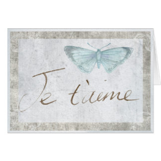 Je Taime French Butterfly Love Romantic Card