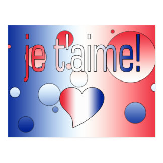 Je t'aime! French Flag Colors Pop Art Postcard