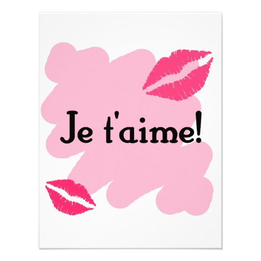 Je t'aime! - French I love you Personalized Invitation
