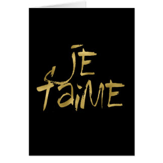 Je t'aime Gold and Black Card
