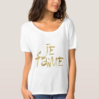 Je t'aime Gold T-Shirt