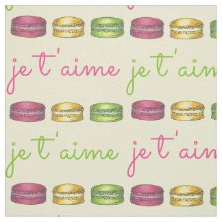 Je T'aime I Love You France French Macaron Fabric