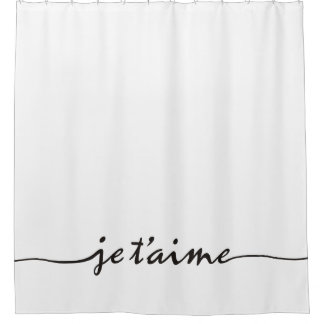 je tu0027aime i love you in french black shower curtain