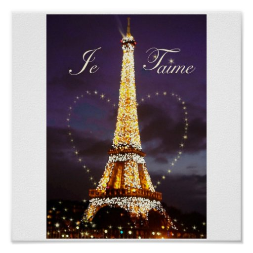 JE T'AIME LOVE FROM PARIS poster