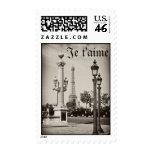 Je t'aime! Parisian Vintage Stamp