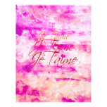 Je T'aime, Revisited Personalized Letterhead