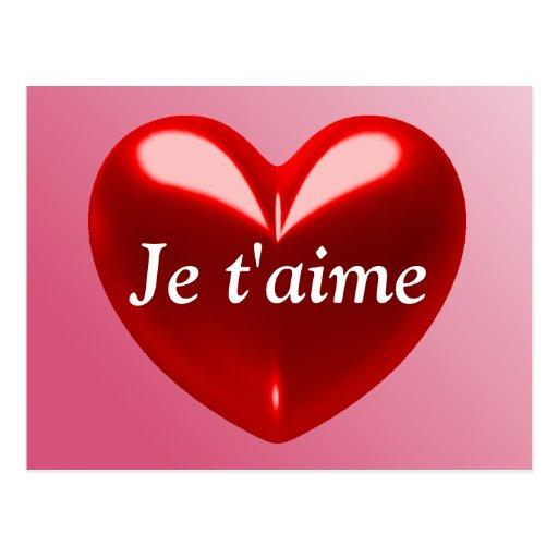 JE T'AIME - TE AMO (francés) Postal