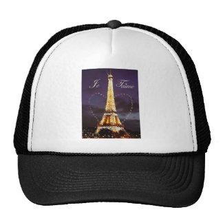 je t'aime twinkling eiffel tower trucker hat