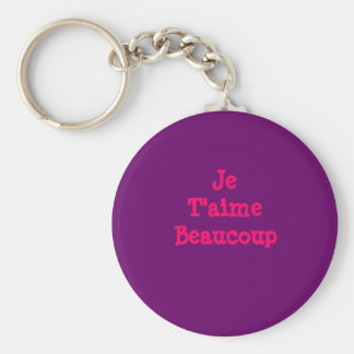 Je T'aimeBeaucoup Basic Round Button Keychain