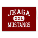 Jeaga - Mustangs - Middle - West Palm Beach Greeting Card
